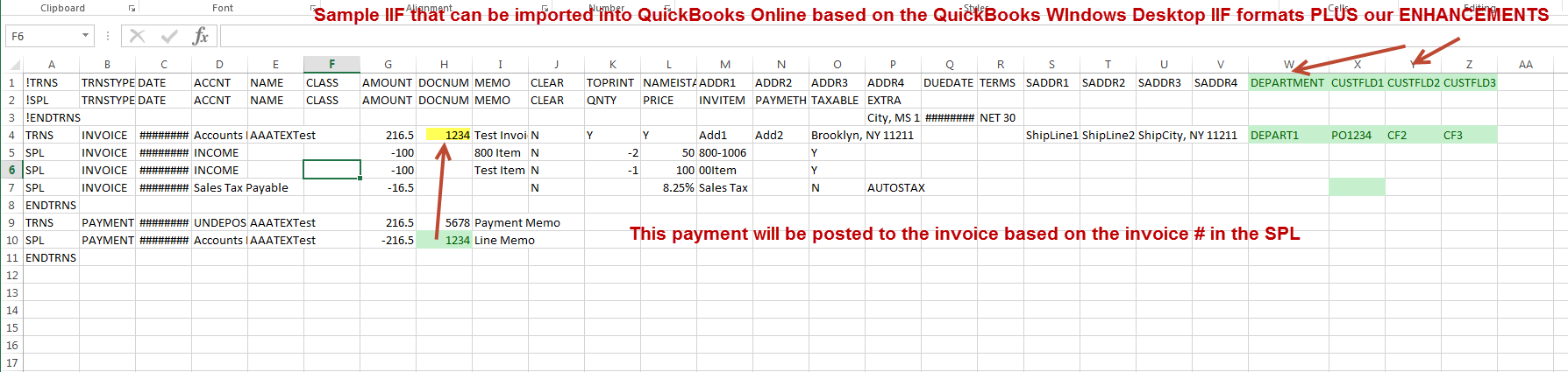IIF Importer To QuickBooks Desktop And QuickBooks Online AAATEX - Quickbooks iif file format