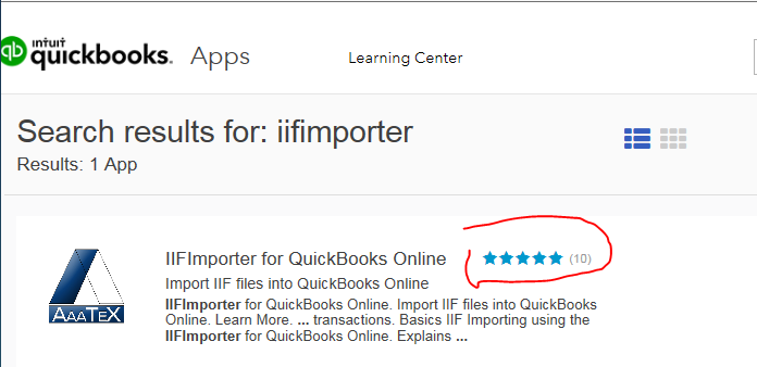 QuickBooks Online IIF Importer Reviews