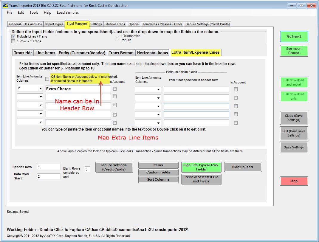 QuickBooks Excel Import